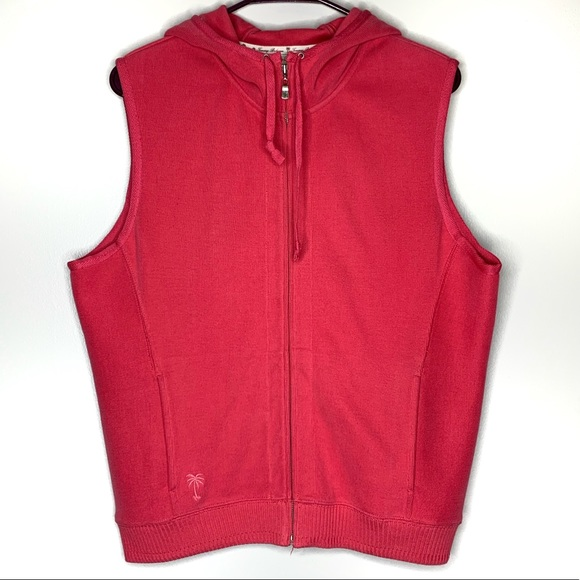 Tommy Bahama Jackets & Blazers - Tommy Bahama Hooded Sweatshirt Vest Zip Up